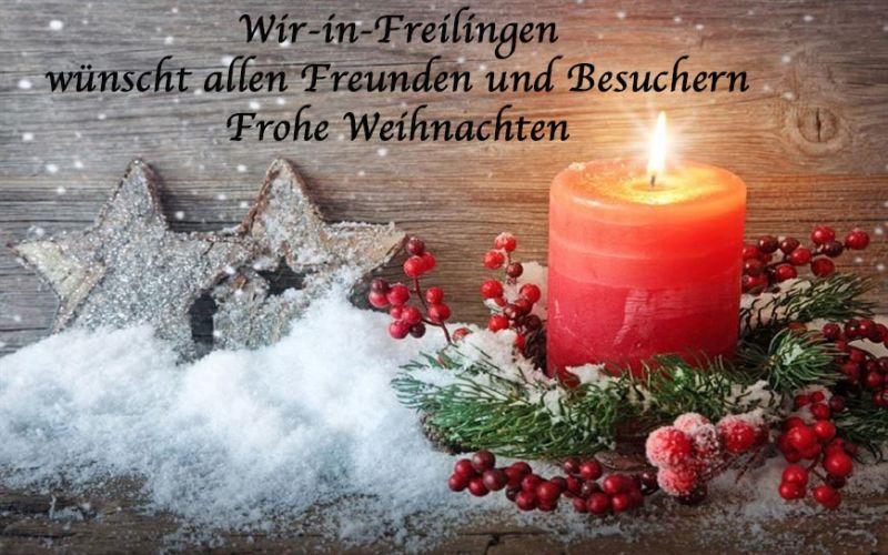 Frohe Weihnachten Wann Wünscht Man.Wir In Freilingen Wif Wünscht Allen Freunden Und Besuchern Frohe